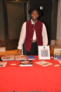 Morgan at UDEC Black History re-enactment at BCC February 2012