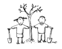 bissel_kids_with_trees